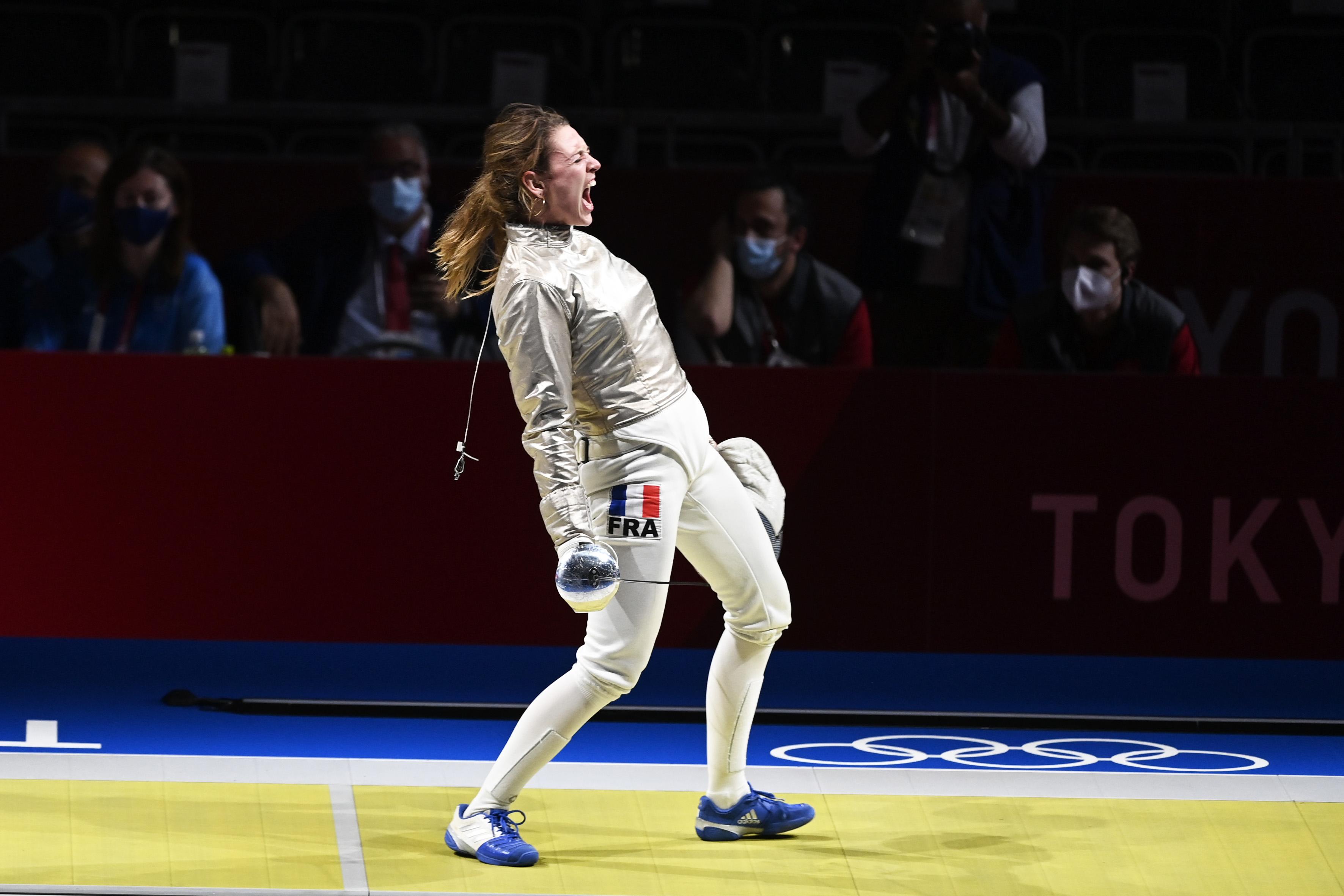 Manon Brunet, médaille de bronze à Tokyo au sabre