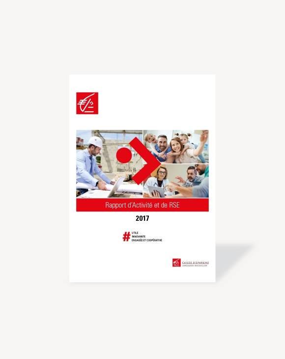 Couverture Rapport d'activité 2017 CE Languedoc-Roussillon