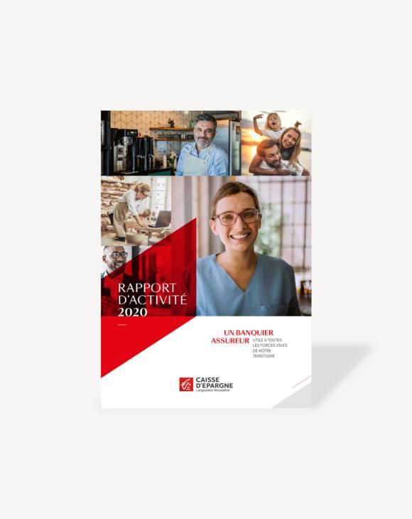 Couverture Rapport d'activité 2020 CE Languedoc-Roussillon