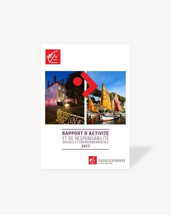 Couverture Rapport d'activité 2017 CE Loire-Centre