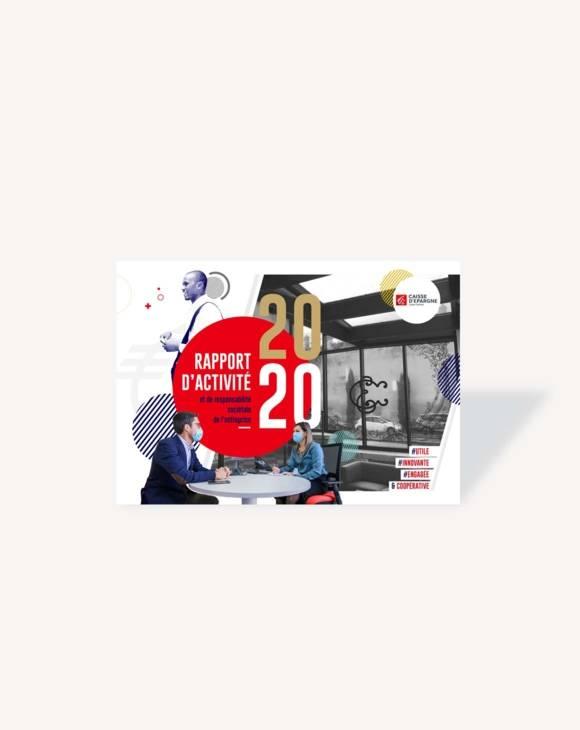 Couverture Rapport d'activité 2020 CE Loire-Centre