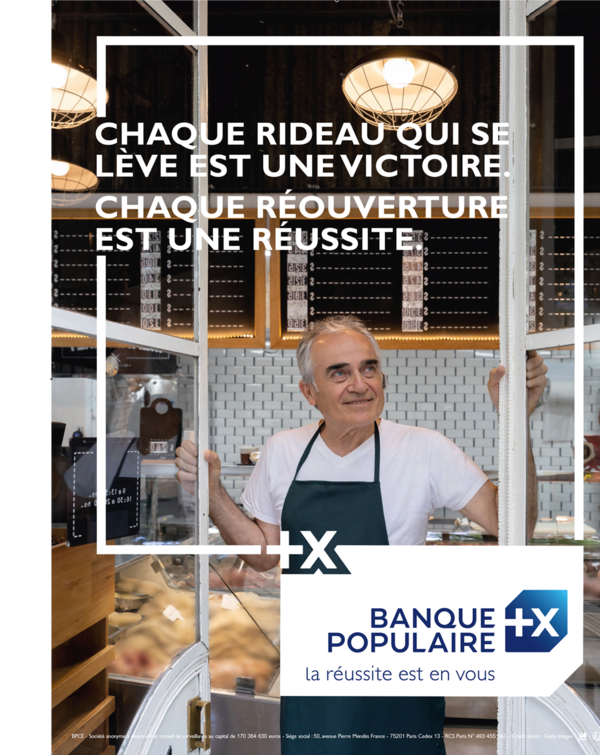 A new Banque Populaire advertising campaign