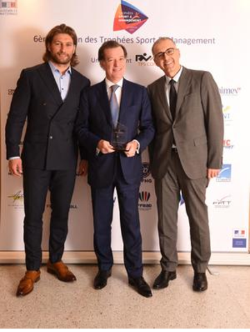 Lors de la soirée des Trophées Sport & Management 2019, Laurent Mignon, président du directoire, a reçu le 10 avril, le Trophée de Décideur économique sportif de l'année.