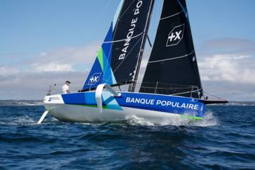Armel Le Cleac'h à bord du Figaro 3 Banque Populaire- Photo Alexis Courcoux