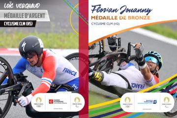 Handbike : Loïc Vergnaud, médaille d'argent et Florian Jouanny, médaille de bronze