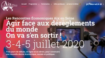 Affiche des Rencontres Economiques Aix en Provence 2020