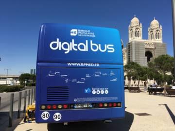 Banque Populaire Méditerranée Digital bus