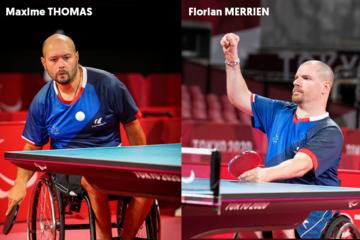 L'équipe de Para tennis de table composée de Maxime Thomas et Florian Merrien