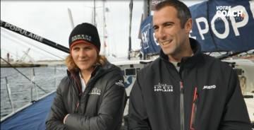 2019 Transat Jacques Favre with Armel Le Cléac'h and Clarisse Crémer