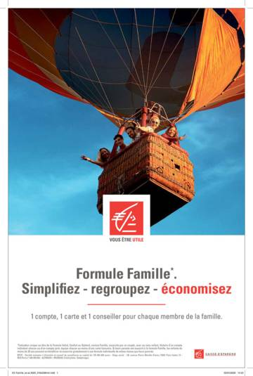 The Caisse d'Epargne launches Formule Famille, an advantageous offering for families