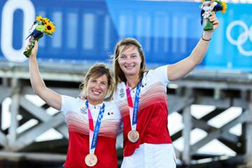 Camille Lecointre et Aloïse Retornaz, médaillées de bronze en 470