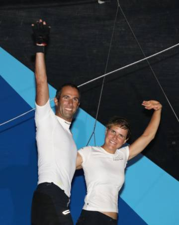 Clarisse Crémer and Armel Le Cléac'h come in 6th place in the Transat Jacques Vabre
