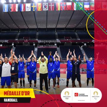 Tokyo 2020 : médaille olympique pour les handballeurs français