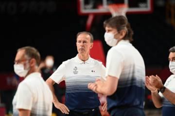 Vincent Collé, coach de l'Equipe de France de basket,  à Tokyo 2020