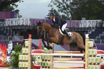 Karim Laghouag et son cheval à Tokyo