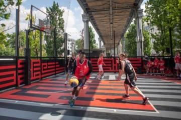Nouveau terrain de basket 3X3 dans le 13e arrondissement de Paris